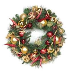 christmas wreath making - Christmas Ball Wreath