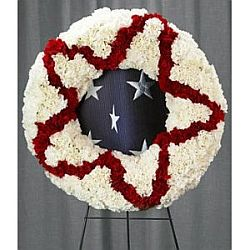 Patriotic Front Door Wreath for Sale