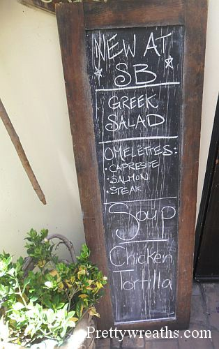 menu wooden chalkboards - Decorative Chalkboards
