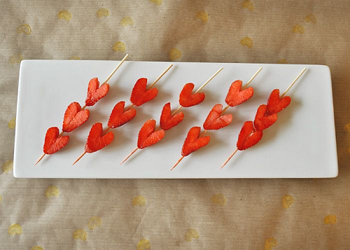 Strawberry Kebabs Valentines Day Breakfast Ideas