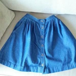 flared-denim-skirt