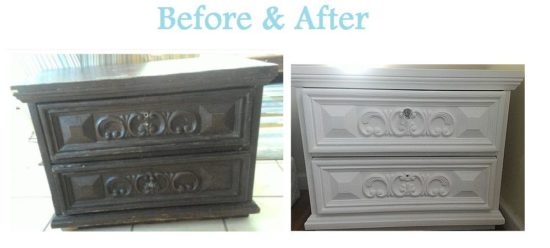 Before and after painting project