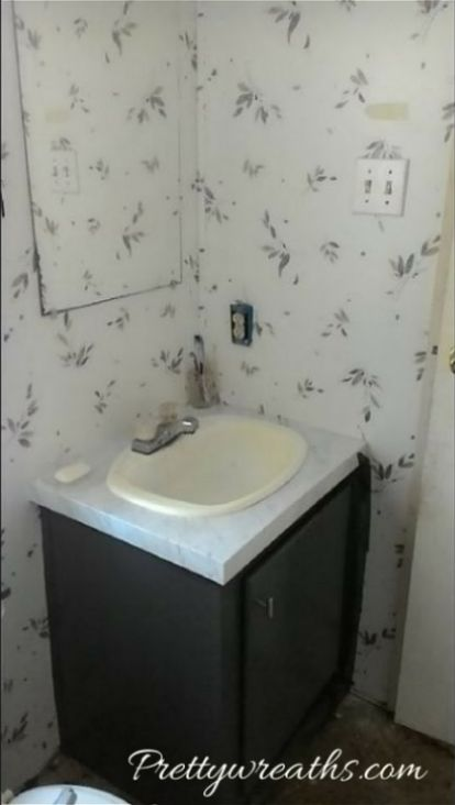 Mobile Home Bathroom Remodel Project With Before And After Shots - Replace bathroom vanity mobile home