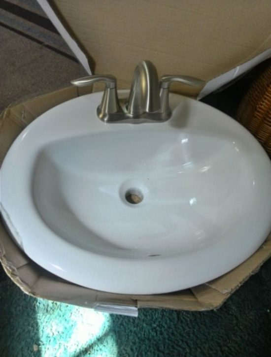 mobile-home-bathroom vanity sink replacement