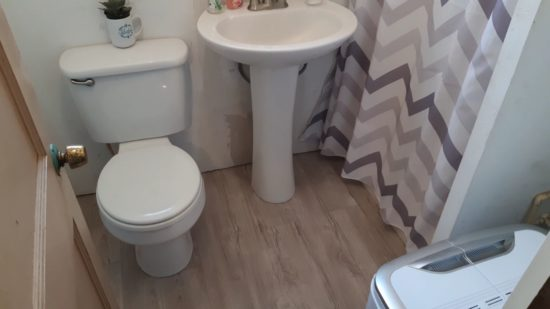bathroom makeover project
