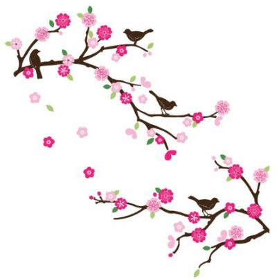 pink-flower-bird-wall-decals