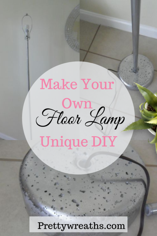 DIY Floor Lamp- Make Your very own custom and completely unique floor or table lamp! Use your imagination to create your own lighting with this diy tutorial. Find out how to make your own.