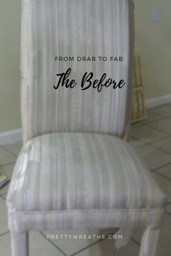 Painting Fabric Furniture with Chalk paint-the before and after.