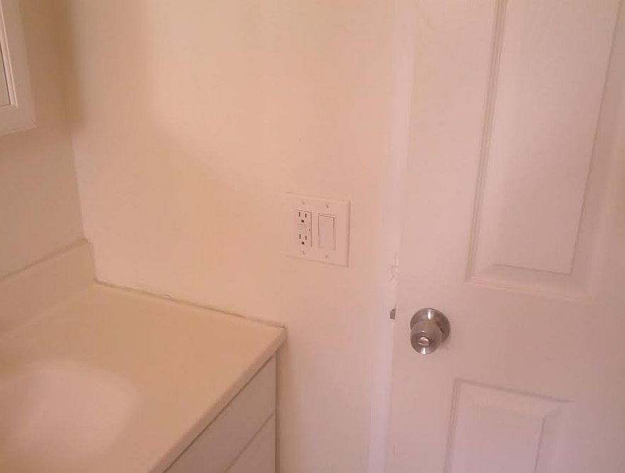 Plain White Switchplate Before the Upgrade