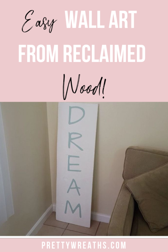 DIY Wall Art- Make your very own inspirational wall art! This is how you can take old wood and create something truly unique and inspiring for cheap!