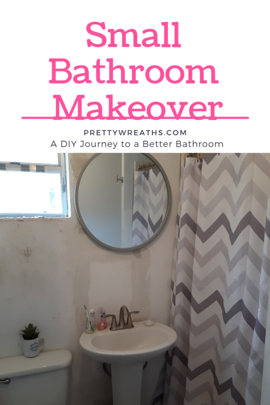 Diy Small bathroom makeover- This small bathroom makeover is my journey for a better bathroom. You can do it too! Follow along and let's create a stunning bathroom together.