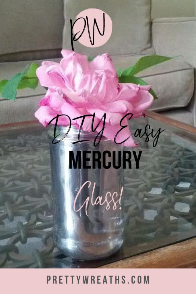 Transform your old, glass jars into something stunning with this faux mercury glass project! #mercuryglass #fauxmercury #mercuryvase #mercury