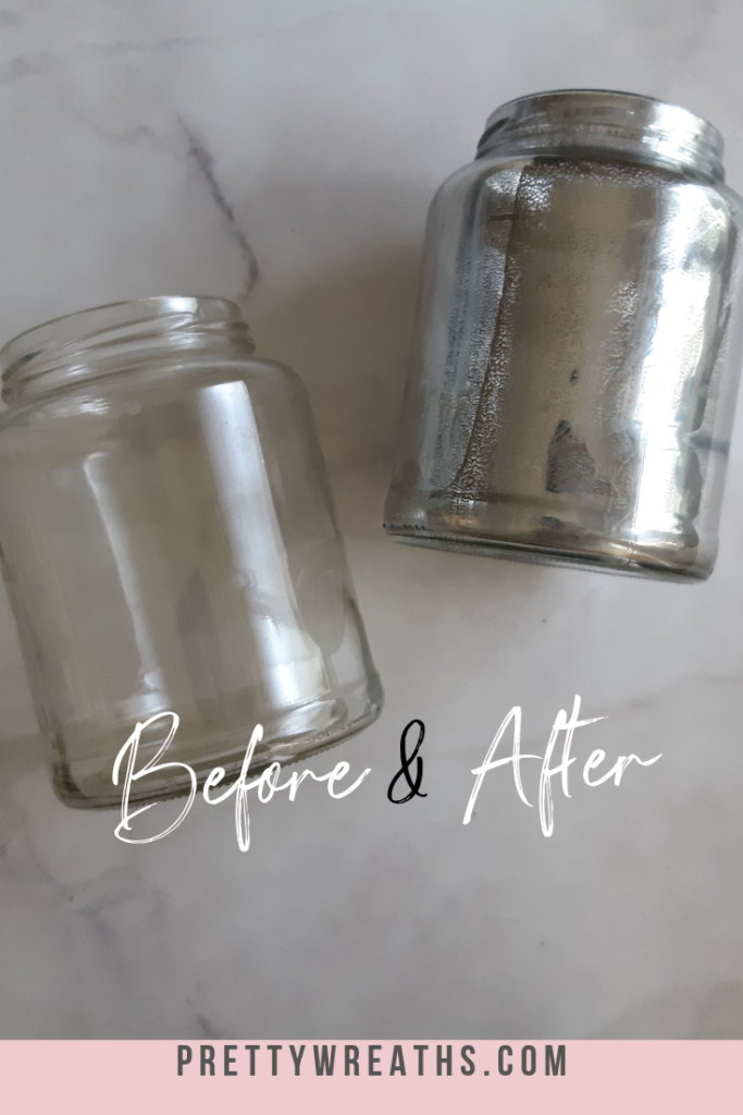 How to make easy mercury glass, see the before and after and how you can make it too!