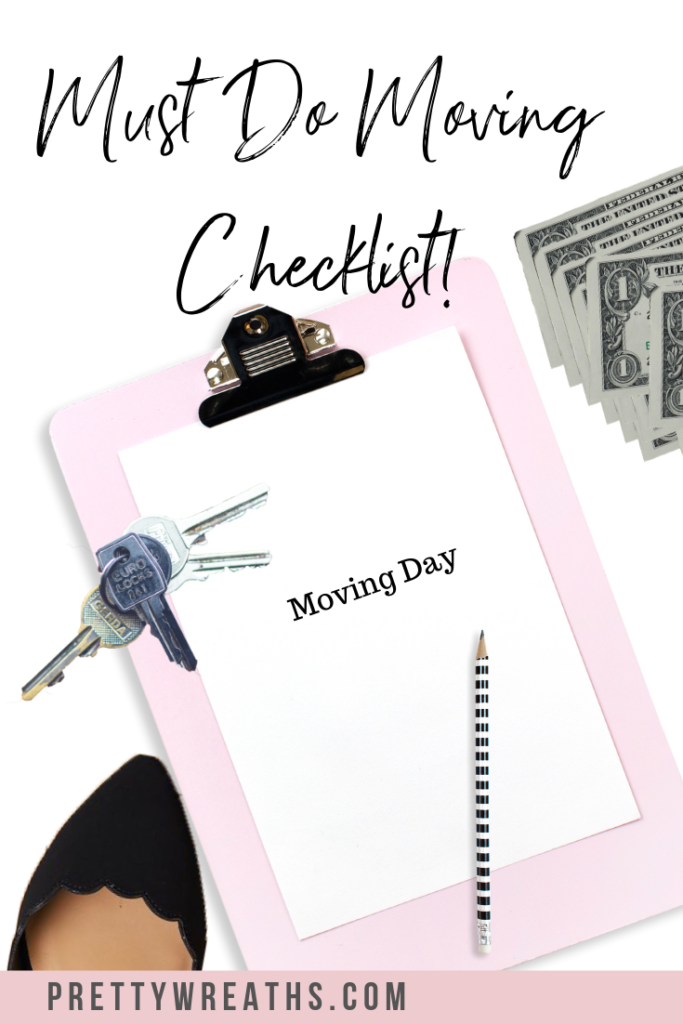 Prepare for your big move with this moving checklist to start your moving process off right. #movingday #moving #movingchecklist