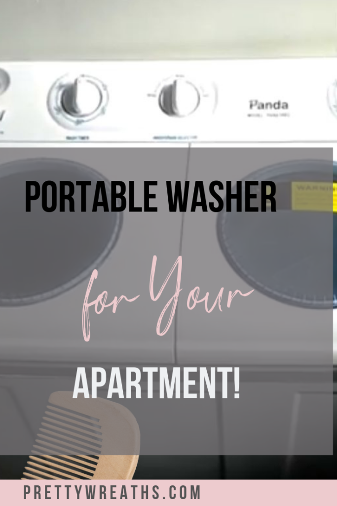 Are you tired of using the coin laundry and fishing for quarters? Then check out the wonders of a portable washer for your apartment or tiny home! #portablewasheranddryer #portablewasher #portablewasherdryer #portablewashers