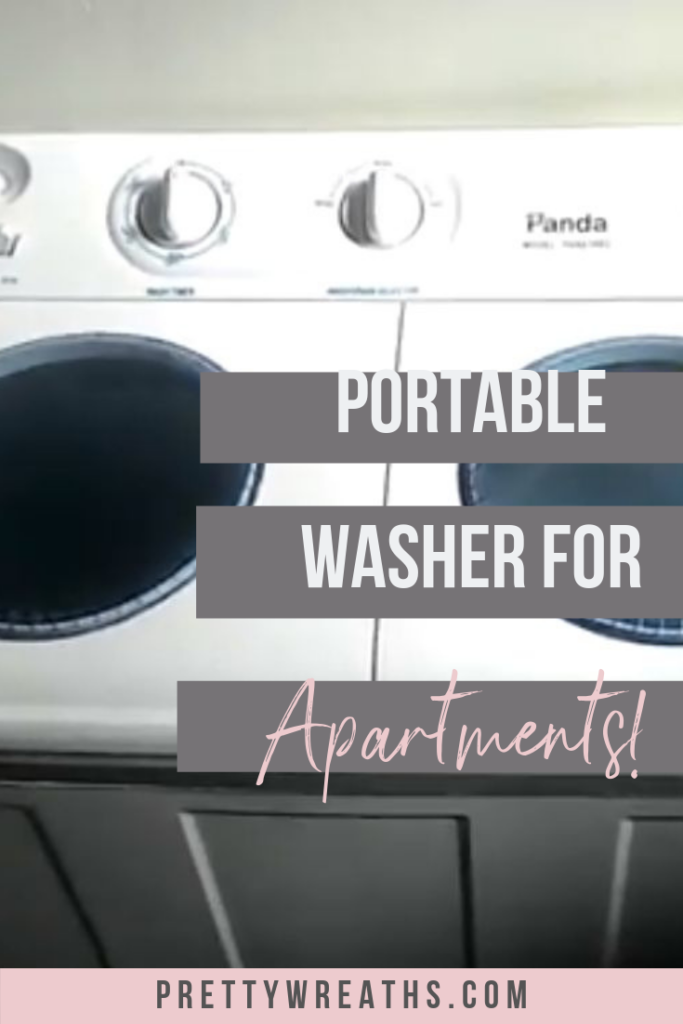Are you tired of lugging laundry to your coin laundry? Find out how you can wash your clothes in the comfort of your apartment with a portable washer.  #portablewasheranddryer #portablewasher #portablewasherdryer #portablewashers